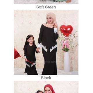 Baju Kurung - 5Y (Black Color)
