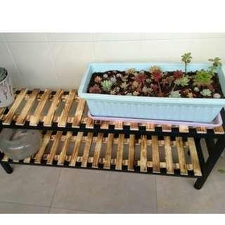 Multiple level Plant rack wood/metal frame!