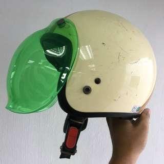 Open face Helmet bubble visor
