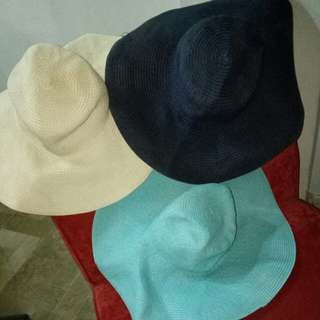 3 summer beach hats