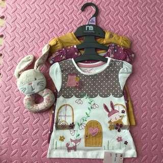Mothercare Shirts - Set of 3 (6-9M)