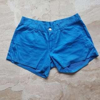 Neon blue shorts
