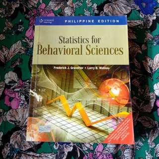Statistics for Behavioral Sciences by Frederick J. Gravetter & Larry B. Walnau