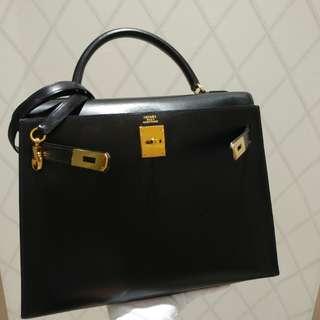Hermes kelly 32 in black