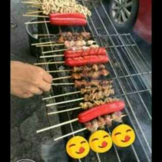 Mike 's BBQ                                                               BBQ-10 ,Balunbalunan-10,  Isaw ng manok-5 ,isaw ng baboy(tumbong)-7, tenga-8 , hotdog-13   by order call or text 09952636412 for more details look for michael or teresa