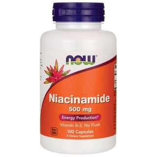 Now Foods Niacinamide 500mg 100 Capsules