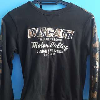 ducati long shirt sweater
