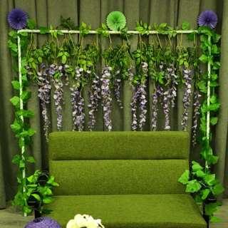 紫藤花(共有12支),另外有粉紅色的紫藤花,婚禮佈置,求婚,攝影