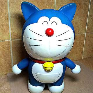 Huge Vintage Doraemon Coins Bank ( Blue)