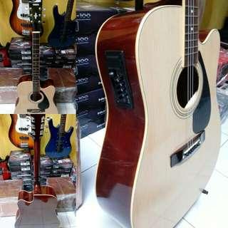 Gitar akustik elektrik yamaha jumbo