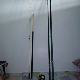 Surf casting rod snd multiplier reel.