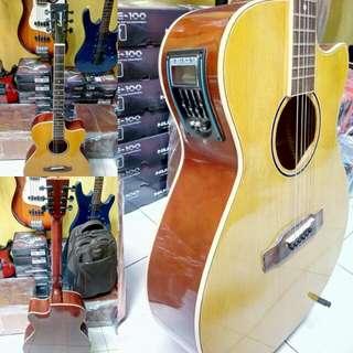 Gitar akustik elektrik lakewood tuner