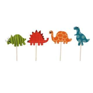 Brand New Cute Card Dinosaurs Cake Cupcake Toppers