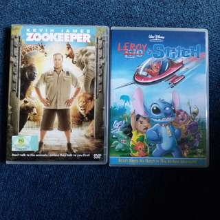 Kevin James Zookeeper (DVD) & Leroy & Stitch (Dvd)