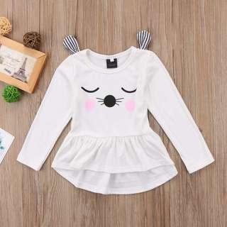 🐰Instock - 3D cat dress, baby infant toddler girl children glad cute 123456789