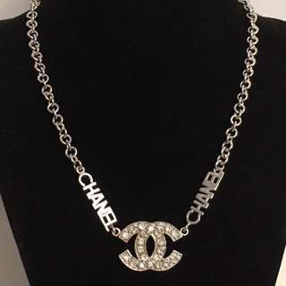 925 silver  large Vintage CC Chanel necklace
