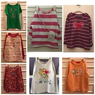 女童上衣  - 各$25  - 馬鐵烏溪沙站取 或 郵費自付