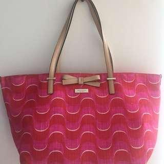 Kate Spade Ribbon Canvas Bag