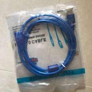 全新 USB 2.0 cable 1.5m  線 綫