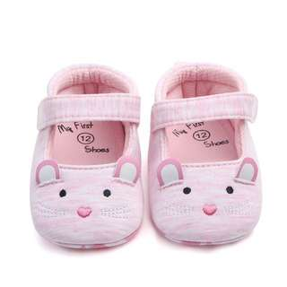 🐰Instock - pink cat crib shoes, baby infant toddler girl children glad cute 123456789