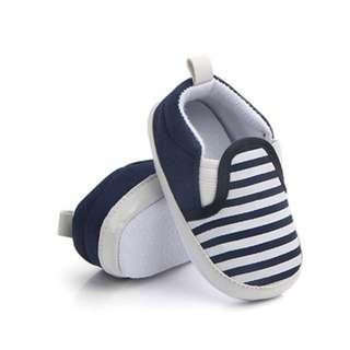 🐰Instock - blue stripe shoes, baby infant toddler girl boy children glad cute 123456789