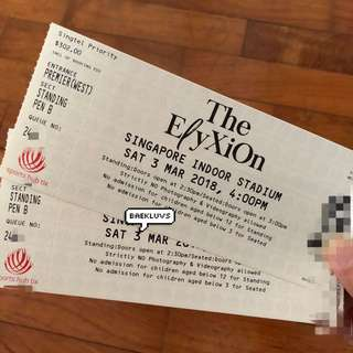 EXO The Elyxion in Singapore Ticket