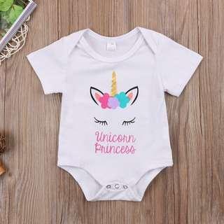 🐰Instock - unicorn princess romper, baby infant toddler girl children glad cute 123456789
