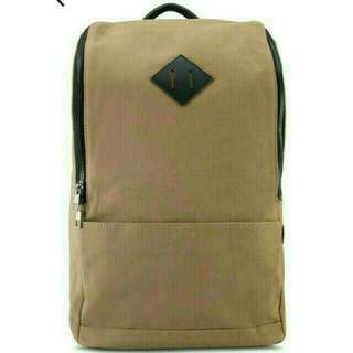 #CANVAS BACKPACK TAN BROWN DESIGN