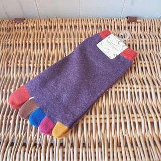 日本正品tutuanna彩色腳趾襪socks tabio