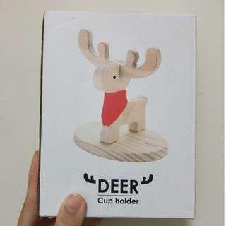 🚚 DIY木製療育麋鹿杯架(木匠兄妹)-可掛馬克杯、項鍊飾品(全新免運)