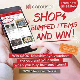 Shop Bumped Items and Win!⚡️