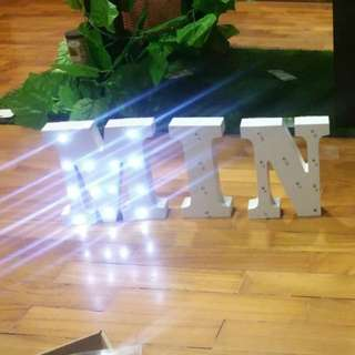 6 Letters Alphabeth LED Name decoration