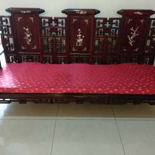 Antique Chinese rosewood settee