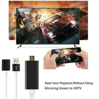 Mobile phone TV HDMI cable for iPhone iPad Samsung and other Android