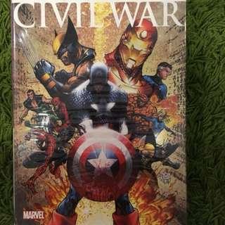 Marvel civil war comic and script and bonus material