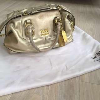 Authentic COACH shoulder bag light gold Bisa Toped