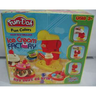 Fun Doh Ice Cream Factory / Lilin Mainan dan Cetakannya Ice Cream