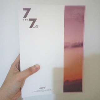 GOT7 7for7 magic hour PHOTOBOOK+CD (Yugyeom lyric book)