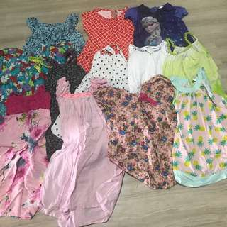 Girls dresses 4-5 yrs old. 12 pieces