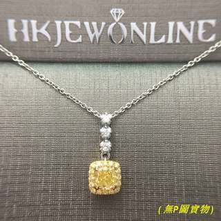 HKJ~18K 白金黃鑽吊咀 (連鏈)