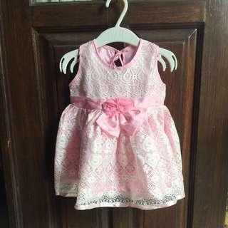 Puff dress brokat bayi