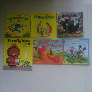 Bundle of 6 children books