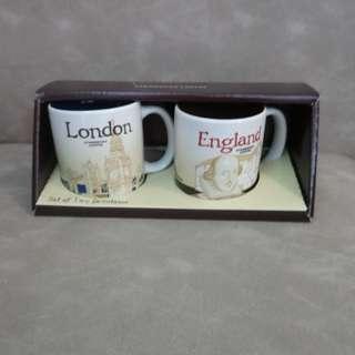 (清屋)星巴克一對迷你陶瓷杯-英國倫敦