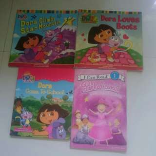 Set of 4 preloved books for girls
