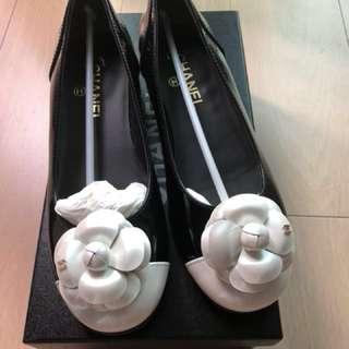 Chanel Flats 38.5 山茶花 平底鞋