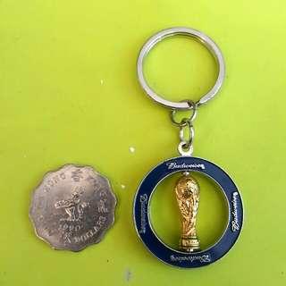 包郵 全新 2002 FIFA 世界盃 紀念版 鎖匙扣 百威啤 BUDWEISER