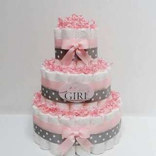 DIAPER TOWER CAKES