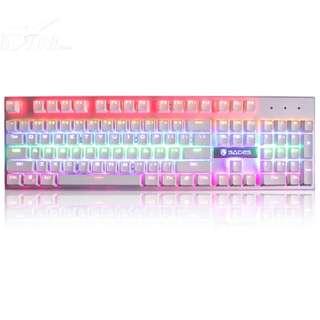 SADES K10 White Real Mechanical Wired USB Gaming Keyboard