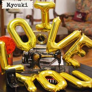 Letters Numbers Party Foil Balloons Decor