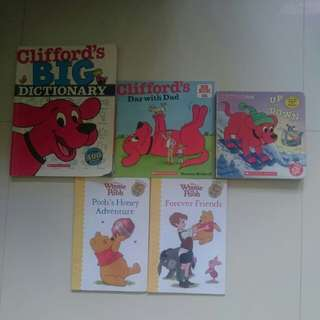 Set of 5 preloved children books